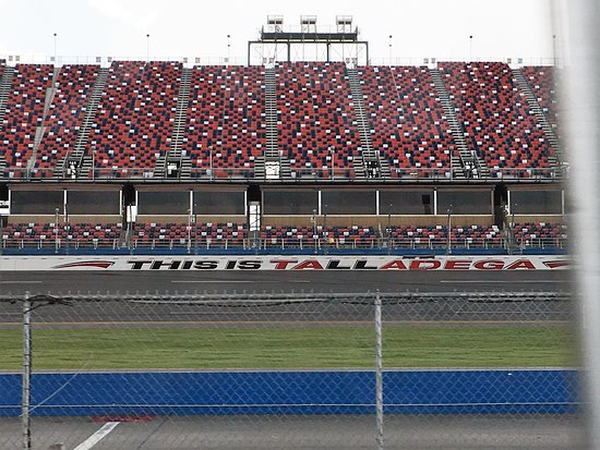 The Talladega Racetrack Grandstand.