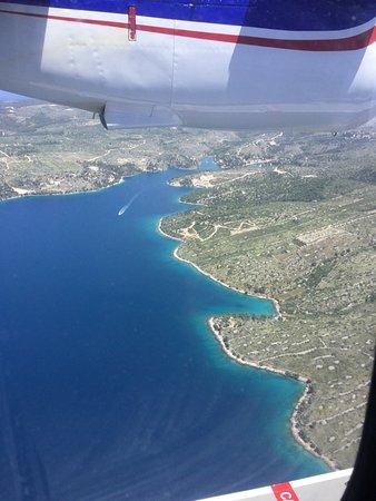 Blick Aus Dem Flugzeug Bild Von European Coastal Airlines No