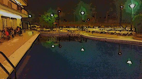 H TOP Royal Star: Pool area at night
