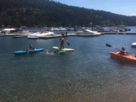 A Day at the Lake : Paddle Boads ,  Kayak, and Boogie Boards OH MY !!