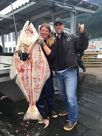 Puffin Fishing Charters : 112lb Halibut Body