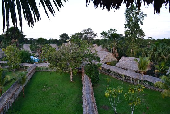 Amazon Rainforest Lodge: Vista para os bangalos do mirador do Hotel