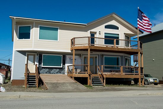 Nome, AK: Street view of front of B&B