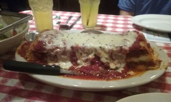 Buca di Beppo: This is the large size lasagna