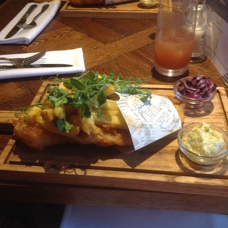 Fish and chips at The Fox
