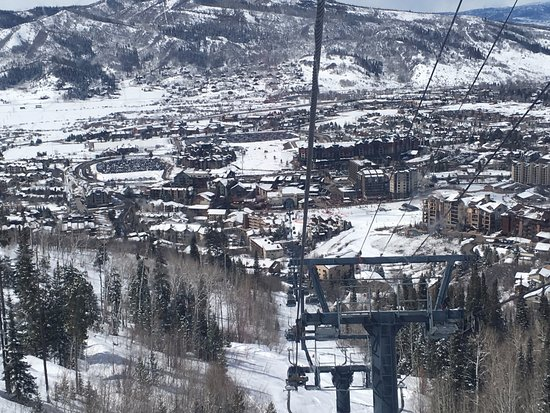 Steamboat Ski Resort: On the gondola Steamboat Spring Ski Resort