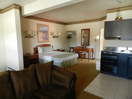 Silver King Inn & Suites: Honeymoon suite with kitchenette