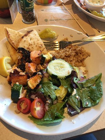 Zoes Kitchen Salmon Kabob salmon kabob - picture of zoes kitchen, north wales - tripadvisor