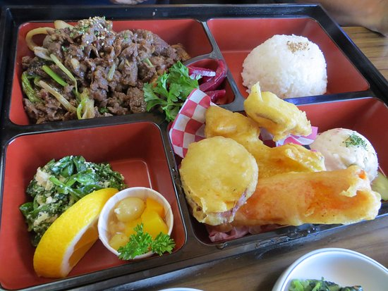 Sonny Bear's Restaurant : Beef Bento box with tempura