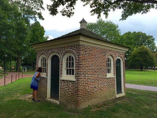 Homewood Museum: The privy, built the same time as the house, had separate halves for men and women (& children).