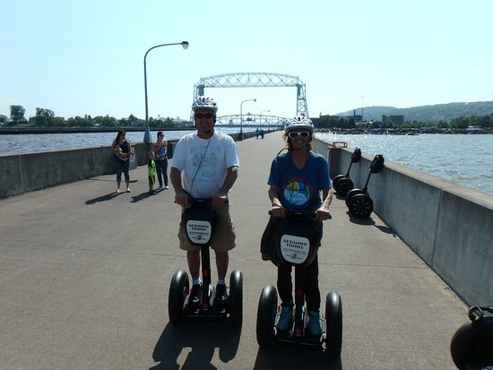 Duluth Glides: On the North Pier, Aerial Lift Bridge in the background