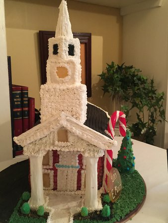 Rogersville, TN: Gingerbread House at Christmas on Display