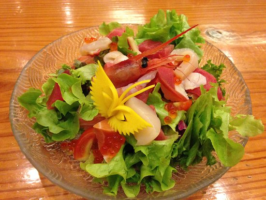 Seafood salad picture of aoi japanese restaurant for Aoi japanese cuisine newport