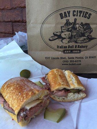 Bay Cities Italian Deli: roast beef and swiss.... yum!