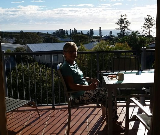 Coolum Beach, Australië: Sitting on the balcony in the sun