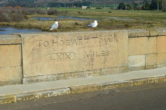 Tasmania, Australia: Destination Sign on Bridge