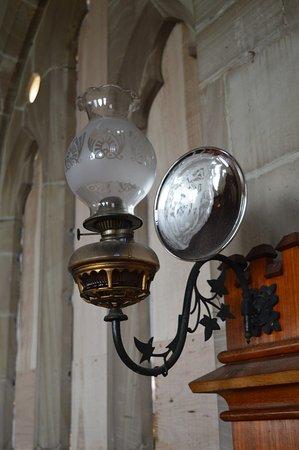 Tasmania, Australia: Old Lamp Inside Church