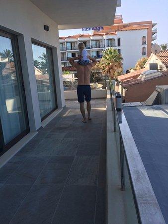 Playa Golf: Our balcony, very big and sun shine all day.