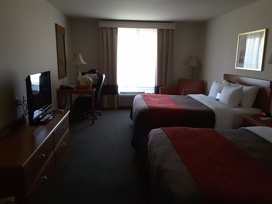 Comfort Inn & Suites : two queen size beds