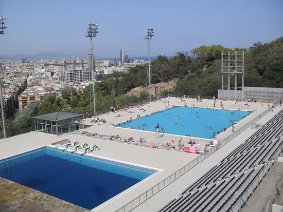 View from the top picture of piscina municipal de montjuic barcelona tripadvisor - Piscina en barcelona ...