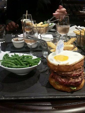 Royal Potatoes Burger Double steack Picture of Au Bureau