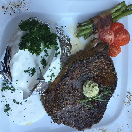 Gasthof Fischerstobli: Heerlijke steak