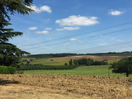 Labretonie, France: Surrounded by open fields