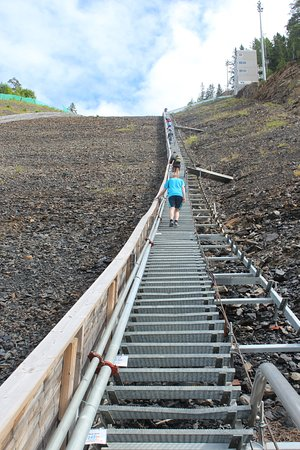Vikersund, Norwegia: first half of the 1078 steps