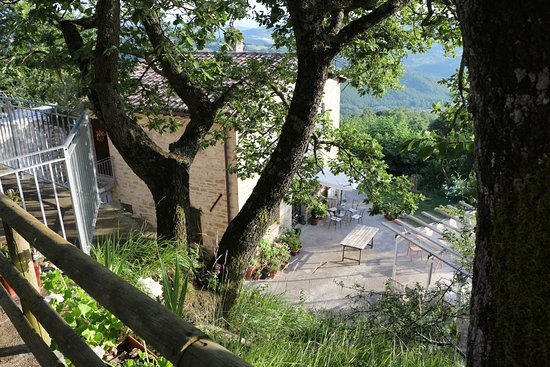 Agriturismo Caresto: Terrace wiew