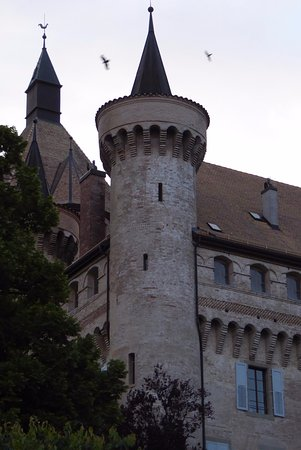 Vufflens-le-Château, Sveits: Up close.