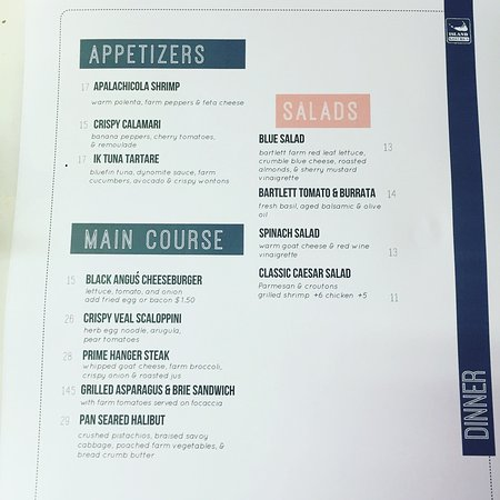 A sampling from the dinner menu - Picture of Island Kitchen ...