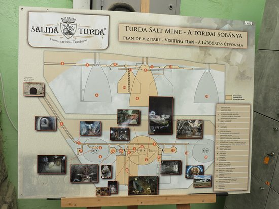 Map of the salt mines Picture of Salina Turda Turda TripAdvisor