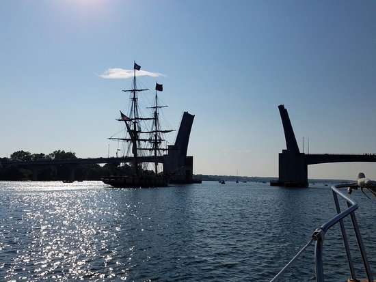The Tall Ships Festival in Sturgeon Bay is an amazing experience especially viewed from the wate