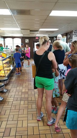 Bill's Donut Shop: Production at full bore. Line out the door at 9 on Thursday morning.
