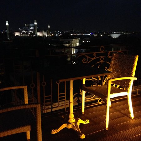 """Nowy Efendi Hotel """"Special Class"""": Terrace overlooking Aya Sophia and the Blue Mosque"""