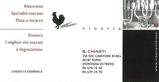 Il Chianti: Carte de visite