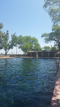 Toyahvale, Техас: View of the higher diving board.