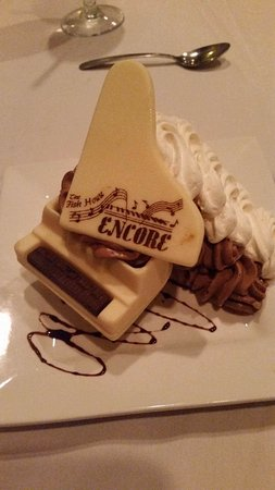 Chocolate mousse piano - Picture of The Fish House Encore