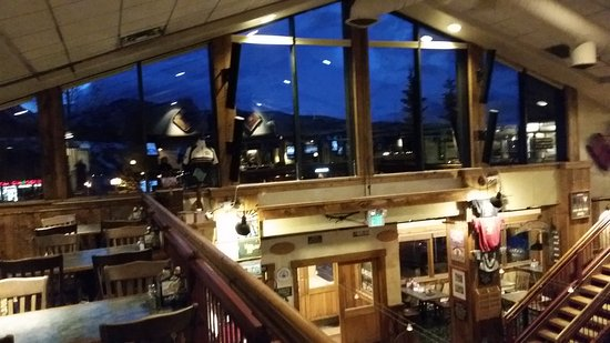 Dillon Dam Brewery: Upstairs deck and window