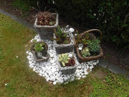 Bad Bevensen, Deutschland: Adorable little basket garden on the front of the property