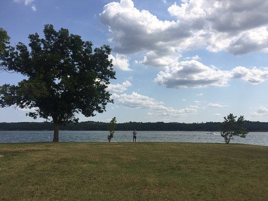 Chickasaw National Recreation Area: Looking out at the Lake of the Arbuckles.