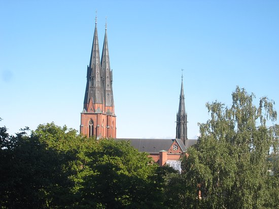 Uppsala, İsveç: Fine panorama of the Cathedral