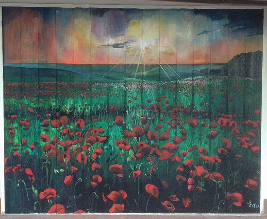 Stonewall, Τέξας: Our mural of Hill Country poppies