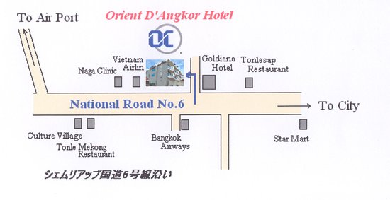 Orient D'Angkor Hotel: Hotel map