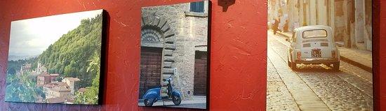 da Baffone Cucina Italiana: Photos on the wall