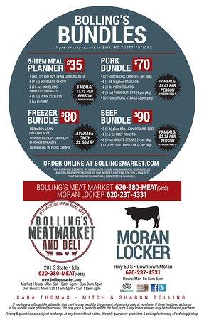 Meat Bundle - Picture of Bolling Meat Market & Deli, Iola - TripAdvisor