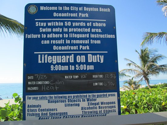 Boynton Beach, FL: Sign with conditions