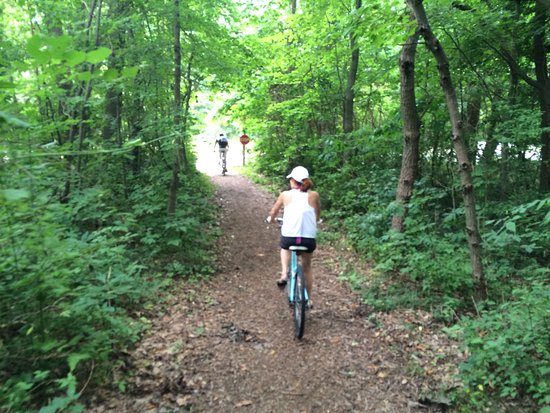 Kal Haven Trail: The little section of narrower trail at Van Buren State Park.