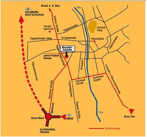 JUFA Hotel Graz City: Map