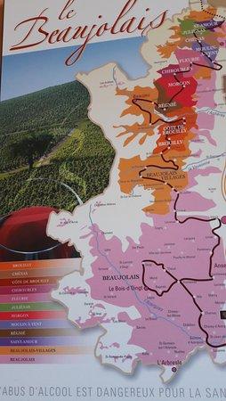 Fleurie, Prancis: carte du beaujolais